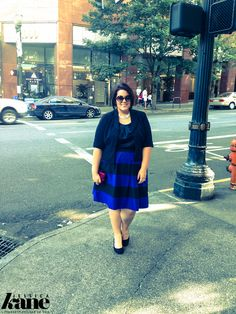 The Striped Skirt ~ Life & Style of Jessica Kane { a body acceptance and plus size fashion blog }