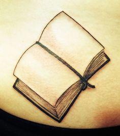 Book And Literary Tattoo Design On Back Shoulder Get A Tattoo, Back Tattoo, Open Book Tattoo, Librarian Tattoo, Empty Book, Fresh Tattoo, Tattoo Addiction, Literary Tattoos, Little Books