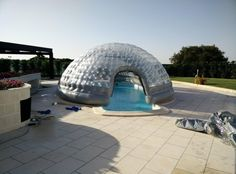 inflatable pool cover