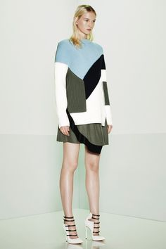 Amazing abstract colorblock look -- Prabal Gurung | Resort 2015 Collection #style #fashion