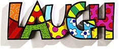 Amazon.com: Romero Britto Word Decor LAUGH by Giftcraft: Home & Kitchen Green Funeral, Roman Kings, Dream Word, Martini Set, Mini Dogs, African Elephant, Christmas Centerpieces, Floral Wall, Home Decor Furniture
