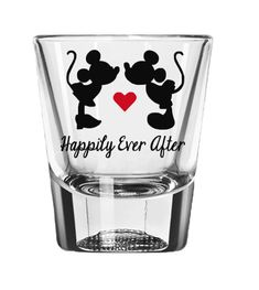 Disney Shot Glass Mickey and Minnie Mouse by CameronsJewelryBox