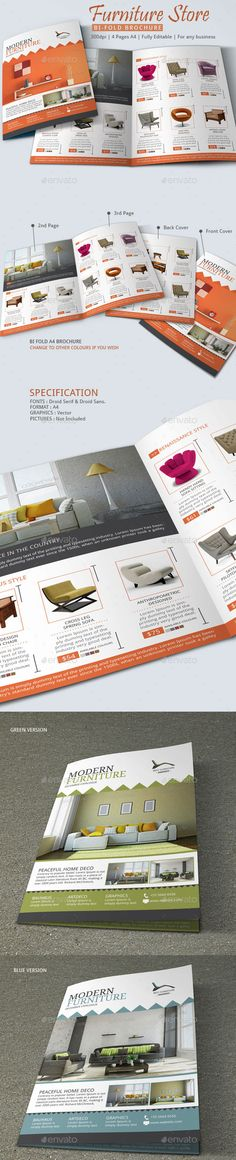 Furniture Store Brochure Template                                                                                                                                                                                 Más