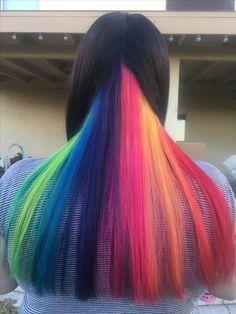 My hidden rainbow hair by Cortney.