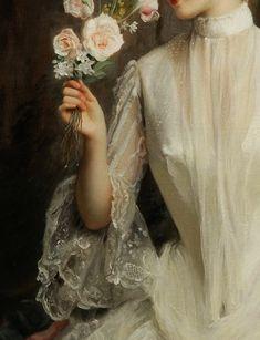"Gustave-Jean Jacquet ( France 1846 / 1909). ""An Elegant Bouquet"" - 1886 - Oil on canvas."