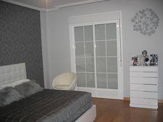 pintura color gris perla Gris perla pared Habitaciones gris y blanco Dormitorios gris y blanco
