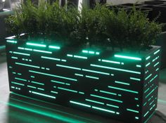 aluminum container with LED