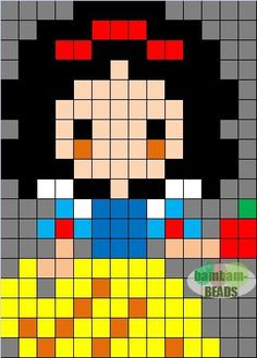 Snow White perler bead pattern