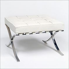 Mies van der Rohe: Exhibition Ottoman: Barcelona Stool Reproduction