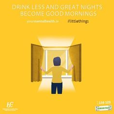 There'll be lots of nights out over Christmas but try and have less to drink and see how it benefits your mood the next day. See yourmentalhealth.ie #LittleThings #PositiveMentalHealth