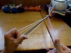 ▶ 5-loop square fingerloop braid pt.2 - YouTube