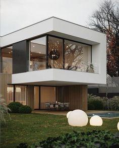 Minimal House Design, Modern Villa Design, Urban Design, Home Building Design, Building A House, Modern Architecture House, Architecture Design, House Front Design, Dream House Exterior