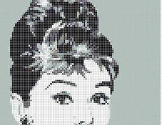 Breakfast at Tiffany's Audrey Hepburn stitchalong...x stitch pattern - NEEDLEWORK