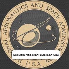 """01 octobre 1958 : Création de la NASA .. Le 29 juillet 1958 le président Eisenhower avait signé la loi instituant la National Aeronautics and Space Administration (NASA). Son but gagner la """"course de l'espace"""" que mène le pays contre le grand ennemi qu'est l'URSS. ... Le 1er octobre 1958 la NASA entre officiellement en fonction. ... #histoire #space #nasa #discover Administration, October 1, Outer Space"""