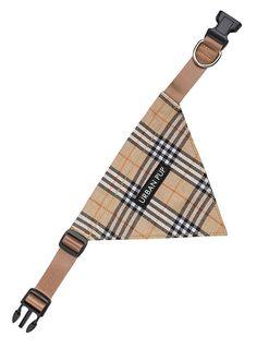 collier pour chien bandana tartan brun