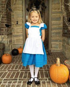 Crazy Wonderful: DIY kid's halloween costume, alice in wonderland, girl's halloween costume, modest alice in wonderland costume