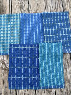 Cottolin Huck Towels, 5 different towels from one warp.