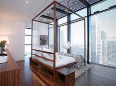 Penthouse luxe avec vue sur la ville de Sydney et ameublement épuré de prestige