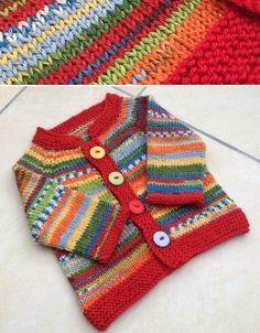 Child Knitting Patterns Free Knitting Sample Baby Knitting Patterns Supply : Fuss Free Baby Cardigan - Free Pattern by sumarivl Cardigan Au Crochet, Cardigan Bebe, Baby Sweater Knitting Pattern, Baby Sweater Patterns, Knit Baby Sweaters, Cardigan Pattern, Baby Patterns, Knit Patterns, Baby Knits