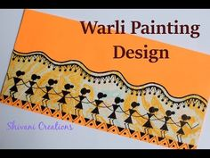 In this video you will find how to make Warli Painting Envelopes. Warli painting is a style of tribal art mostly created by the Adivasis from the. Saree Painting Designs, Pottery Painting Designs, Paint Designs, Worli Painting, Fabric Painting, Envelope Art, Envelope Design, Mandala Art Lesson, Creative Arts And Crafts
