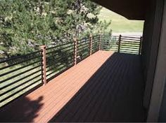 Image result for railing with plumbing pipe