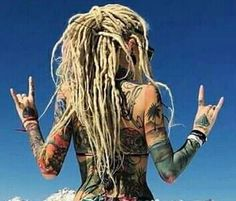 Dreadlocks Girl, Dreadlock Rasta, Blonde Dreads, Locs, Dreadlock Hairstyles, Cute Hairstyles, Chicas Punk Rock, White Girl Dreads, Full Weave