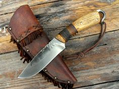 hand forged frontier belt knife
