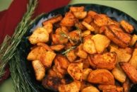 Curried Rosemary Roasted Potatoes ( add onions, carrots and a bit of brown sugar )