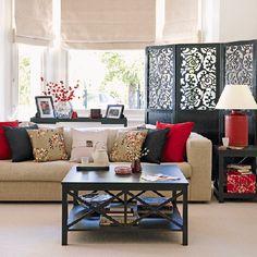 serene, calm, Zen Asian-inspired living room // Decoholic