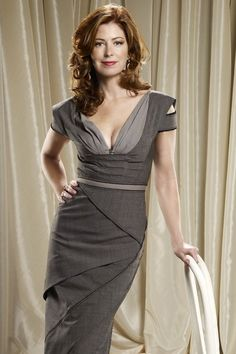Dana Delany~ Love the whole look, hair, & dress!