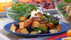 Load up on your veggies with this yummy squash, beet and carrot salad