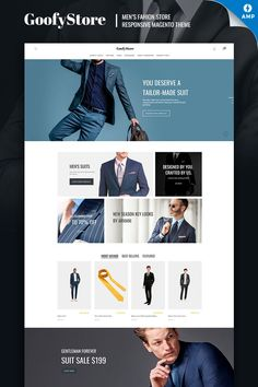 GoofyStore Magento 2 theme is a great choice to build a fully functional Men's Fashion online store. The theme comes with bunch of useful extensions which will Fashion Website Design, Mens Fashion Website, Custom Website Design, Mens Fashion Online, Website Design Inspiration, Online Fashion Stores, Men's Fashion, Magento Design, Men's Business Outfits