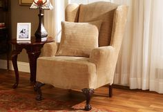Photo of Stretch Royal Diamond Wing Chair