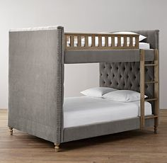 Chesterfield Tufted Velvet Full-Over-Full Bunk Bed