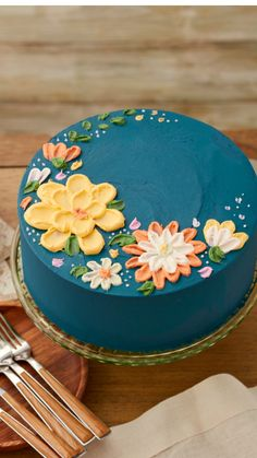 Cake Decorating Piping, Cookie Decorating, Pretty Cakes, Cute Cakes, Frosting Recipes, Cake Recipes, Mini Cakes, Cupcake Cakes, Bolo Floral