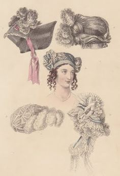 February's Ackermann's brings quite a spectacular selection of Head Dresses. From NineteenTeen - Being a Teen in the Nineteenth Century