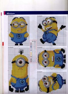 Despicable Me Minions Cross Stitch (Anchor and DMC colours) Page B [1-5]