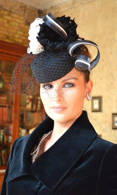 Polly McGettigan #hats. Compare fascinator hat styles on Amazon at http://buyfascinatorhats.com