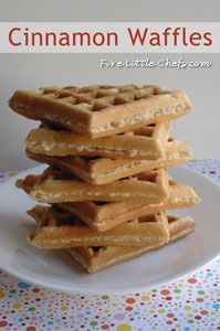 Cinnamon Waffles from fivelittlechefs.com great for breakfast or brunch.