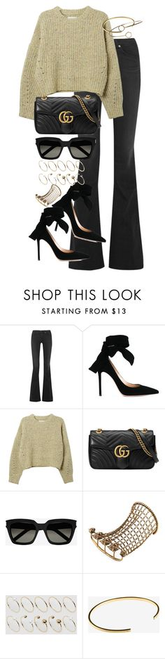 """""""Untitled #3259"""" by angieswardrobe ❤ liked on Polyvore featuring rag & bone, Gianvito Rossi, Isabel Marant, Gucci, Yves Saint Laurent, ASOS Curve, Le Gramme and Topshop"""