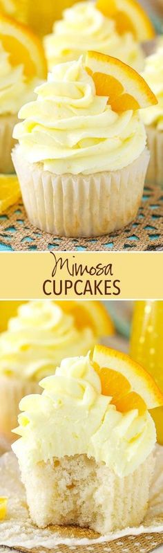 Mimosa Cupcakes - a champagne cupcake with orange frosting! Great for New Years!