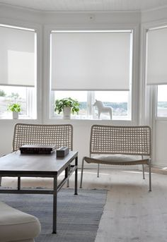holland blinds and low profile chairs
