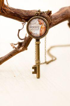Live Dream Love Key Charm Pendant Art Photo Key by LadyArtTalk