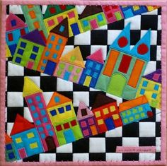 crooked houses quilt Mehr