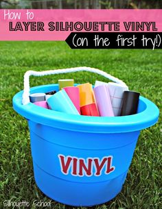 Well, I've heard your pleas..you want to know how to layer vinyl! I must give the people what they want...