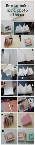How to make a mini photo album/scrapbook, using just one sheet of 12x12 cardstock for the base