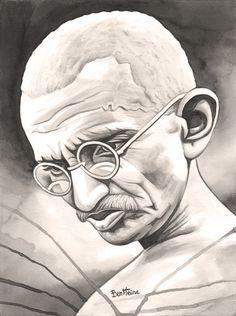 Ben Heine - Traditional Works: Gandhi 1