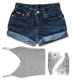 """""""Untitled #600"""" by prettygirlnunu ❤ liked on Polyvore featuring Glamorous, Tommy Hilfiger and Converse"""