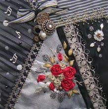 beautiful  quilting and ribbonery & embelishmenting
