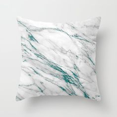 Gray Marble Aqua Teal Metallic Glitter Foil Style Throw Pillow by UtArt - Cover x with pillow insert - Indoor Pillow Grey Throw Pillows, Fall Pillows, Throw Pillow Cases, Designer Throw Pillows, Brick And Mortar, Decorative Pillow Cases, Decorative Cushions, Aqua Bedding, Bedding Sets
